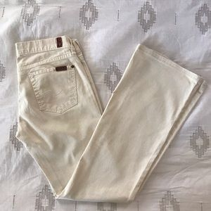 7 For All Mankind Cream Flare Jeans